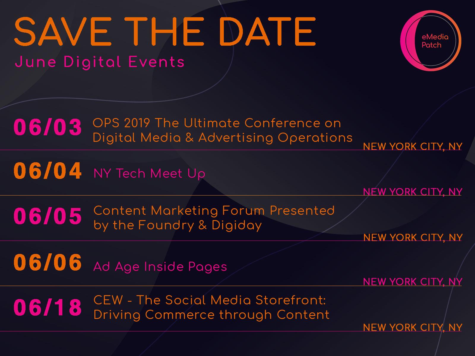 June Digital Events